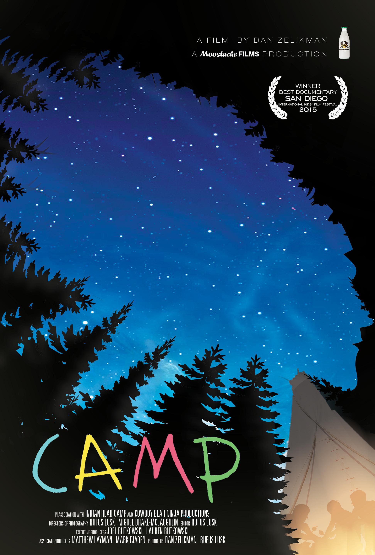 Camp movie poster by Valentino Valdez