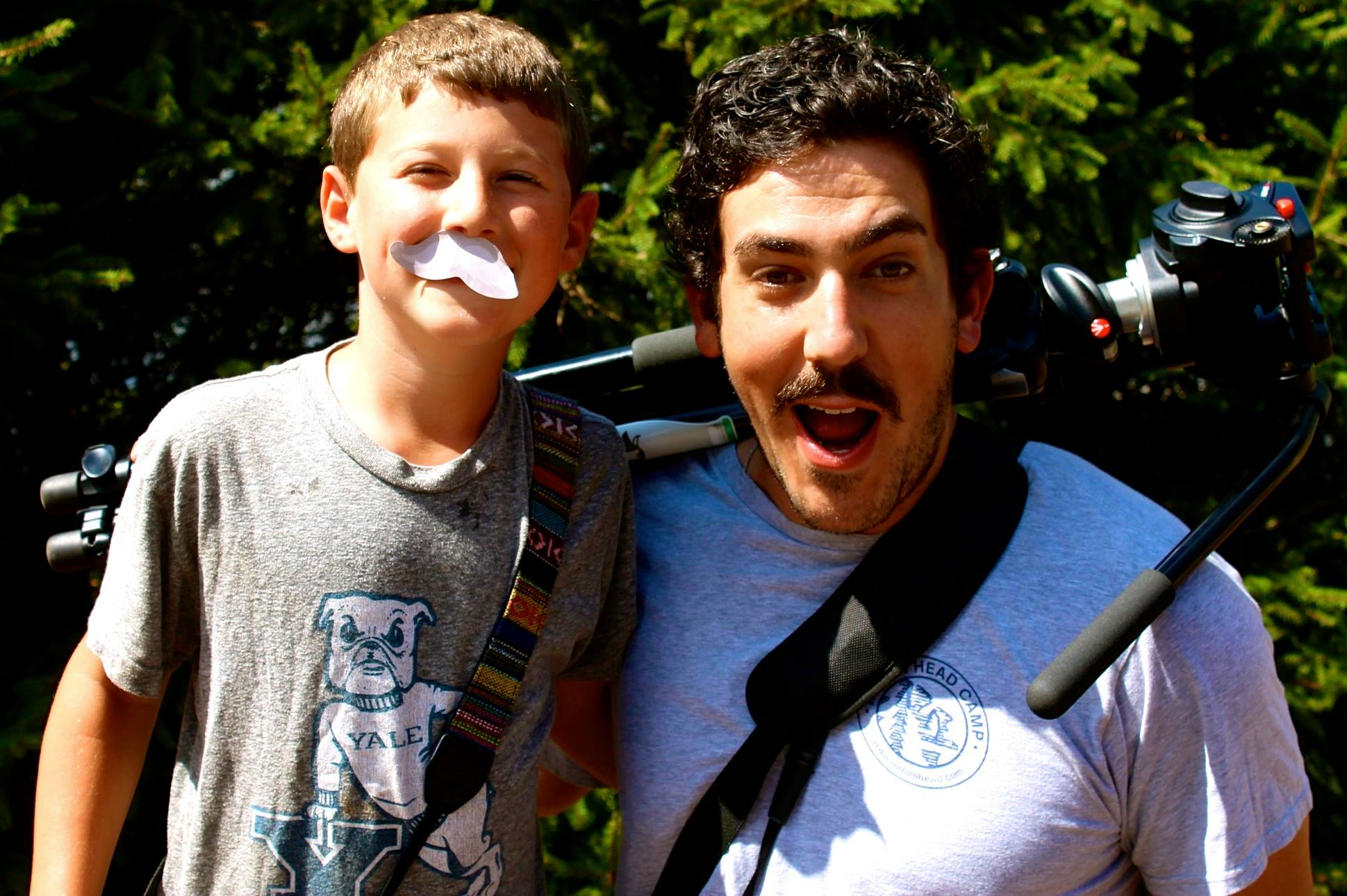 Josh the Moo Crew intern and Director Dan Zelikman