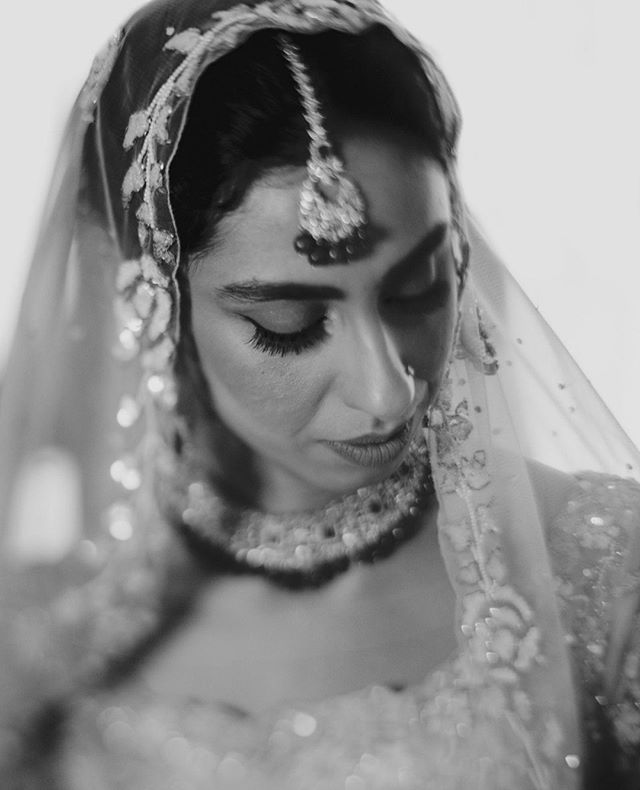 Mala on her wedding day  Mala x Rev  shot by: @thealinaqi - #wedmegood #fineartweddings #intimateweddings #fineartphotography #bnwportraits #destinationweddingphotographer #lookslikefilmweddings #indianweddings #bridalportraits
