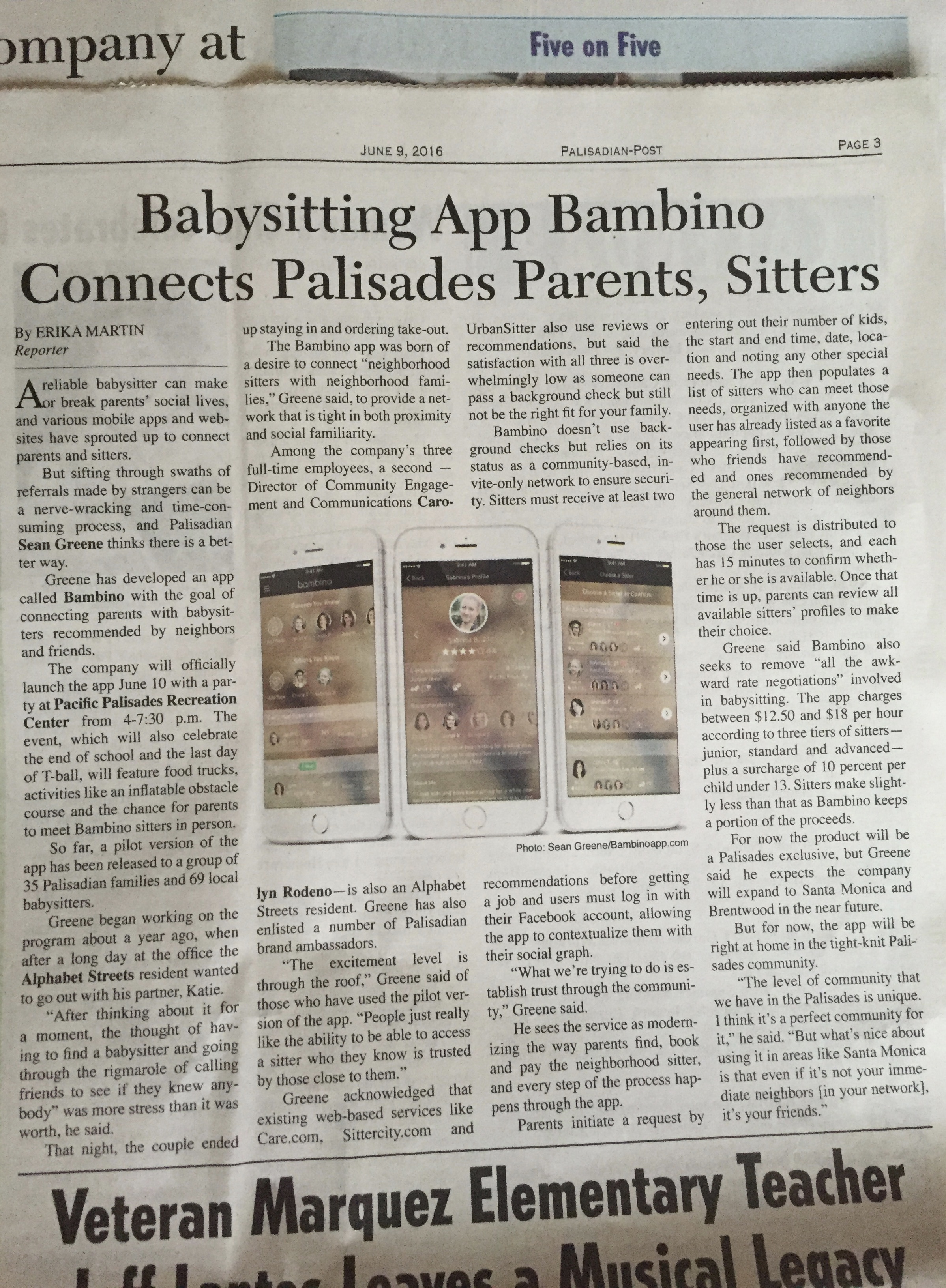 Bambino feature in the Palisades Post.jpg