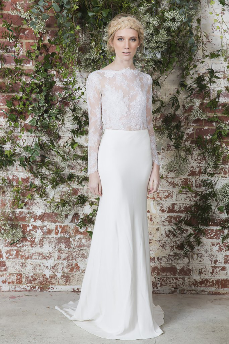 03.  KARA JADE DESIGNS  . It's the clean lines, relaxed flow and the intricate lace that adds an element of mystical sophistication and makes this Daniella gown one of our top picks.