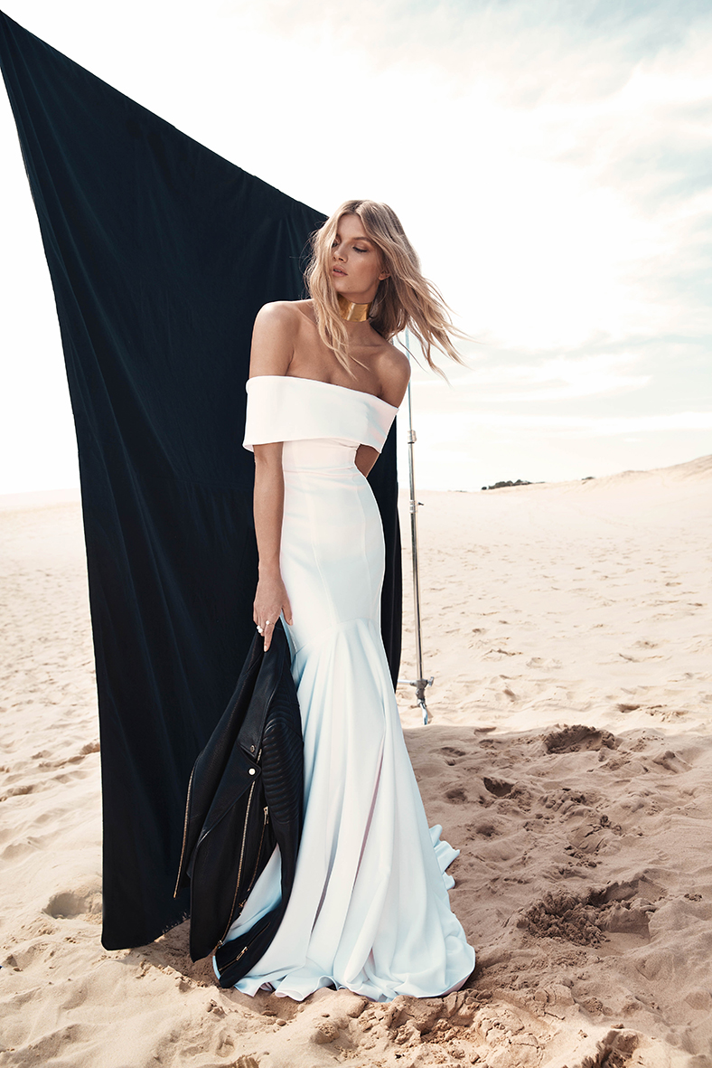 04.  ONE DAY BRIDAL  .   We are in love with this minimalist One Day Bridal gown. The Sadie gown is more of a fashion statement, less of a wedding dress.