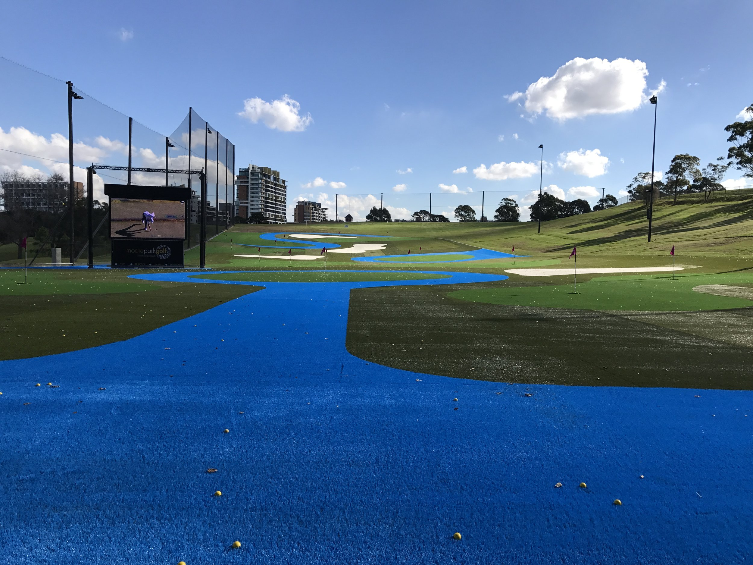 View from MODERN GOLF/Sydney Golf Academy coaching level