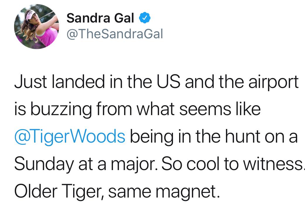 Sandra Gal tweet