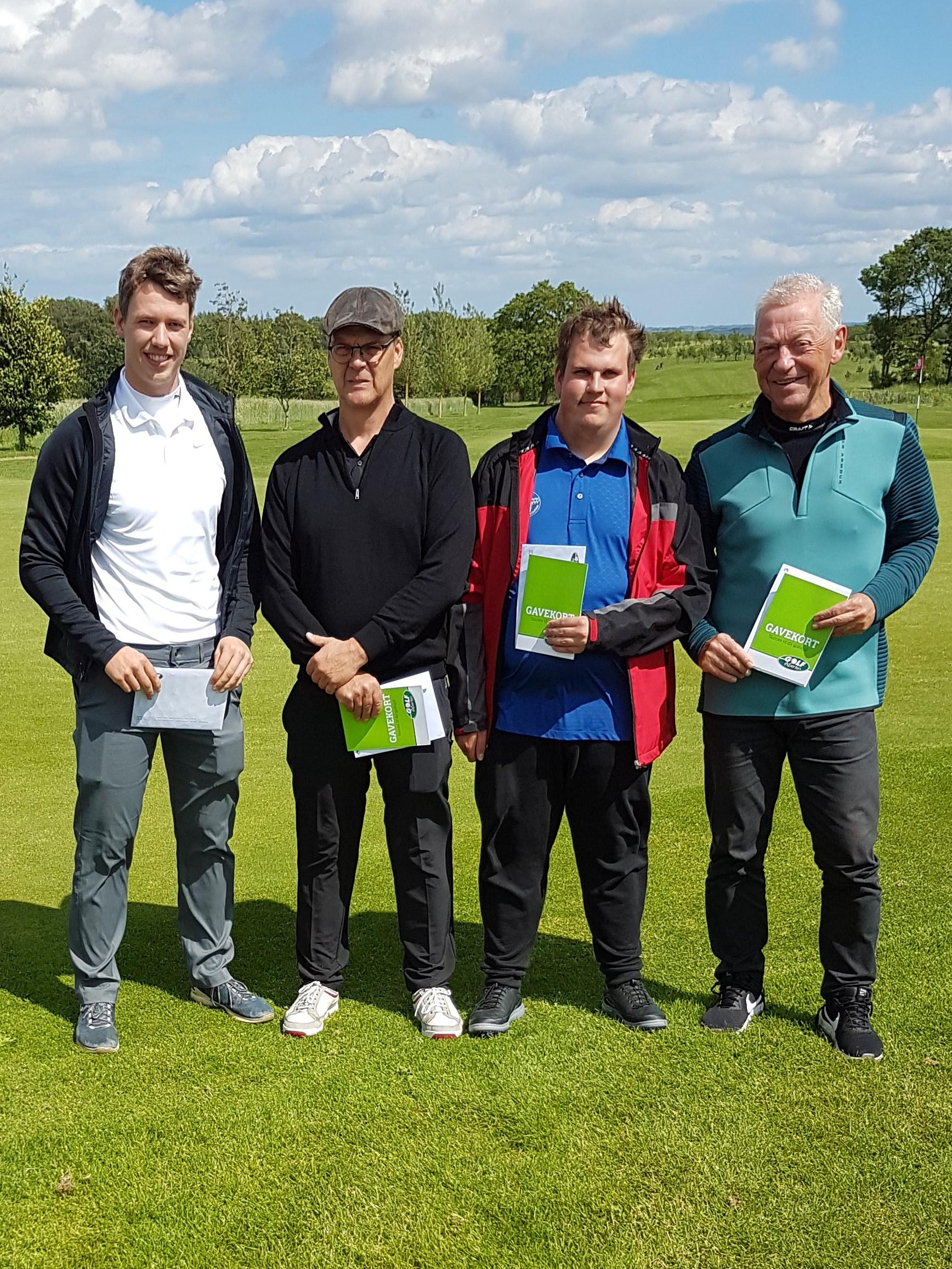 Vinderne i B-rækken: - Gavekort til Golfexperten, Tilst 1. Anders Mørk - 39 point 2. Peter Storm - 33 point 3. Mikkel Thorsen - 32 point 4. John A. Bak - 30 point
