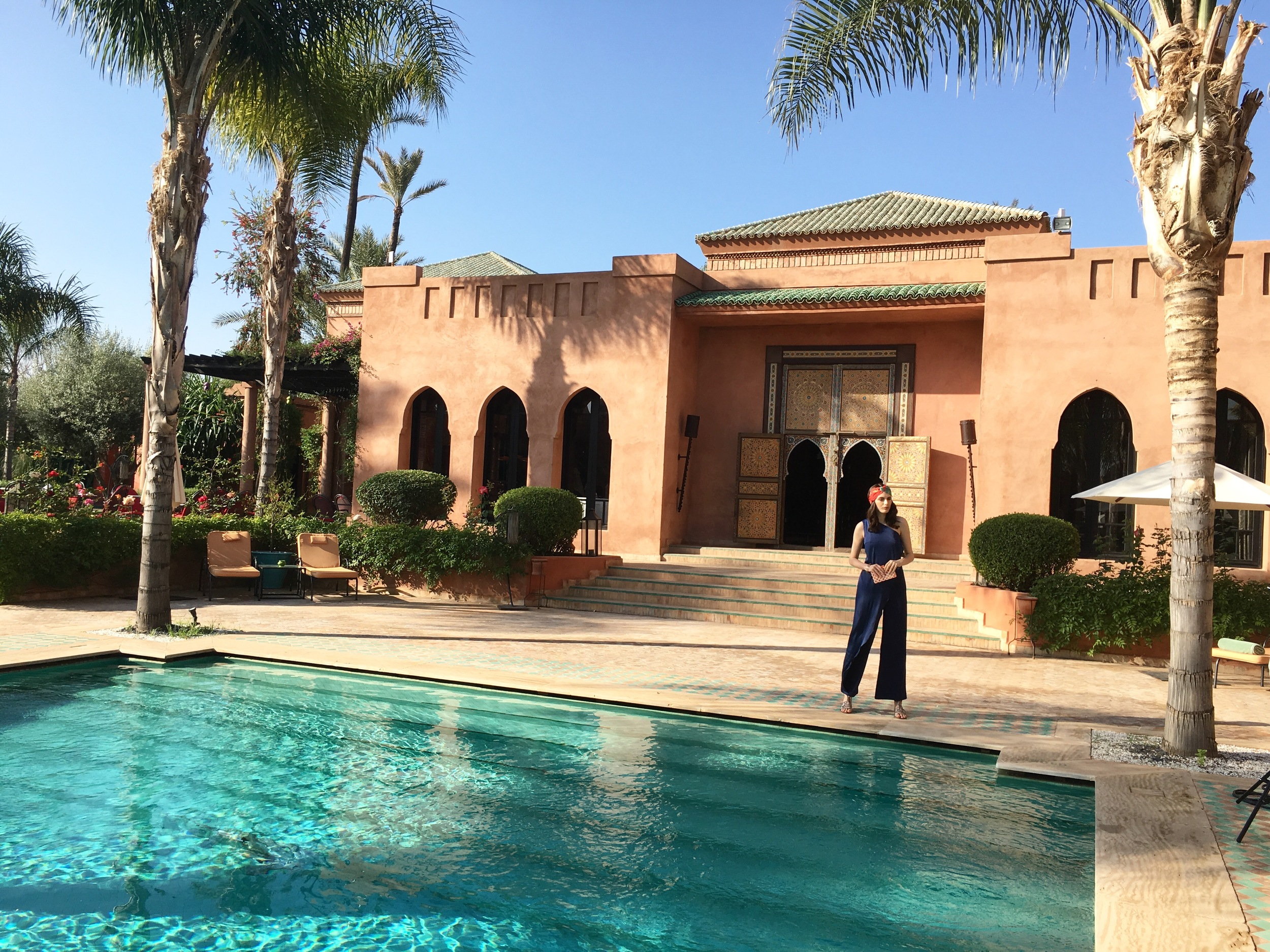 Our hard working model at the   Hotel Palais Aziza