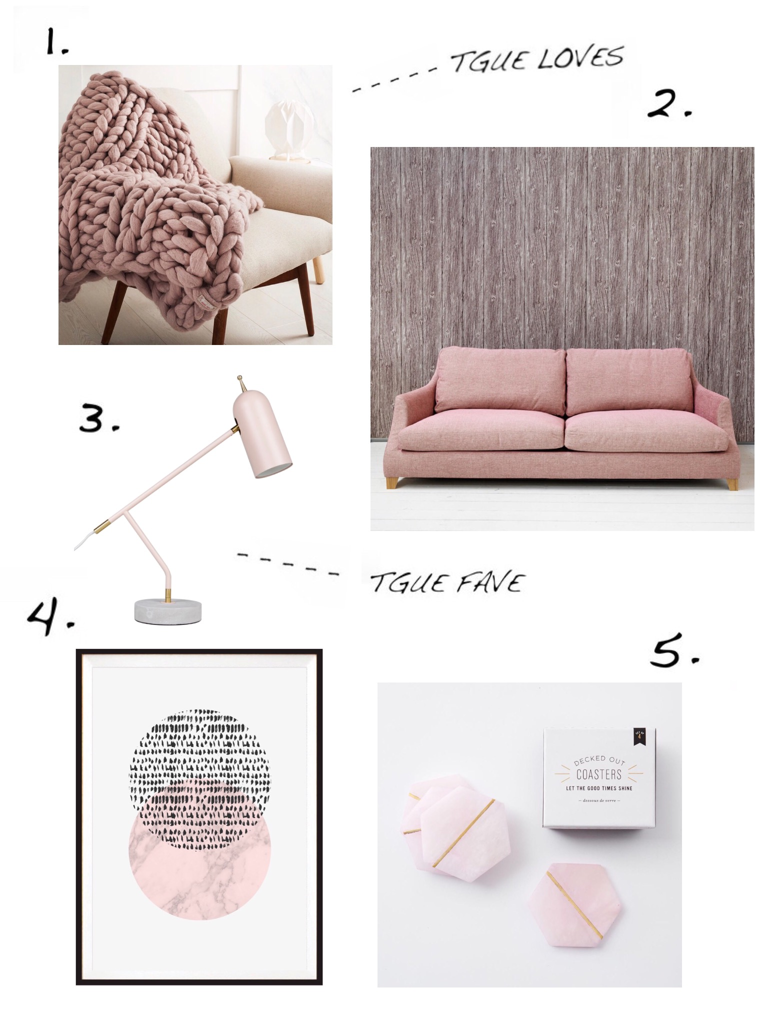 THE GROWN UP EDIT - Pink Homeware