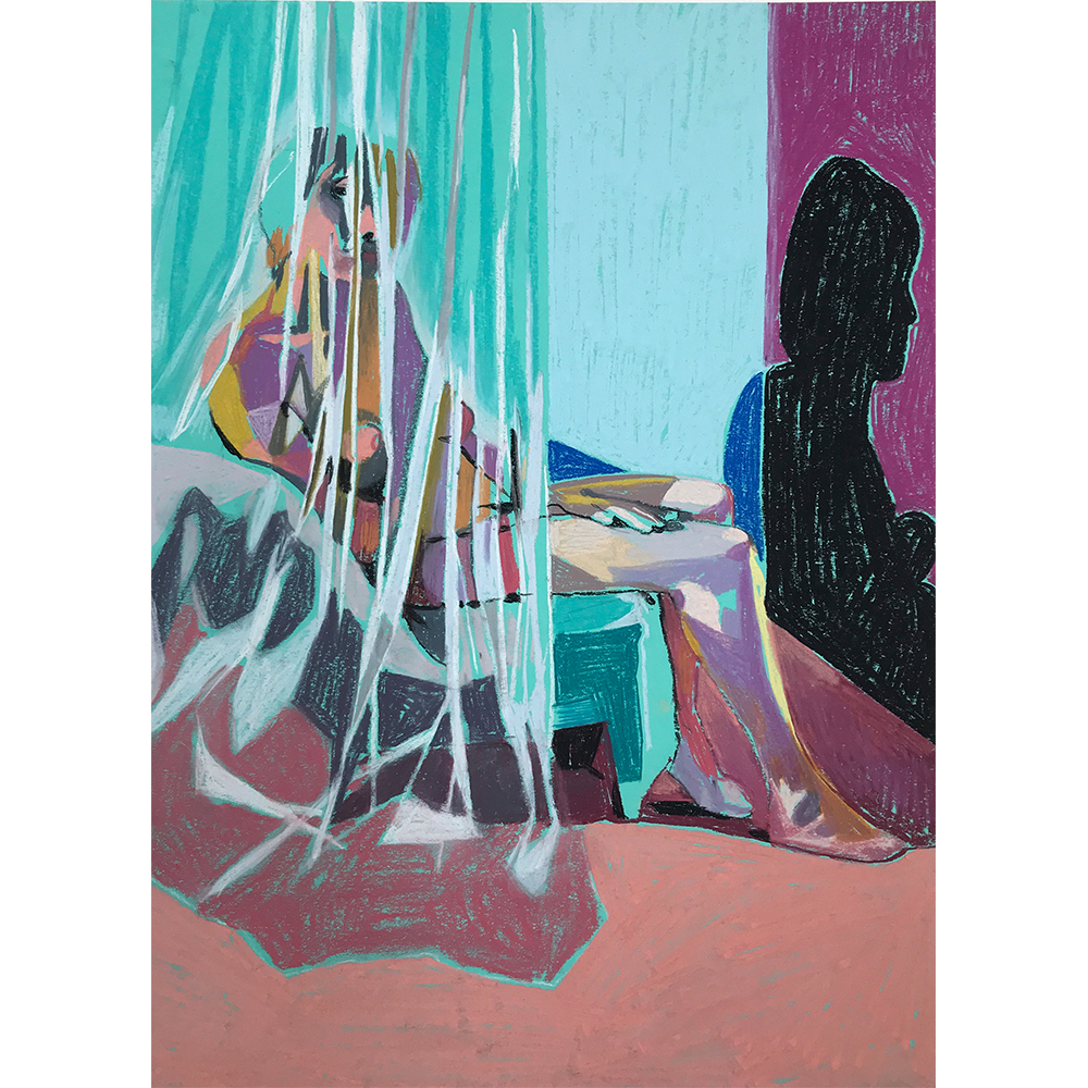 Nude+on+turquoise+with+peach+ground+and+net+curtain,+Pastel+on+Paper,++41+x+29,7cm,+£475,+Partnership+Editions.jpg