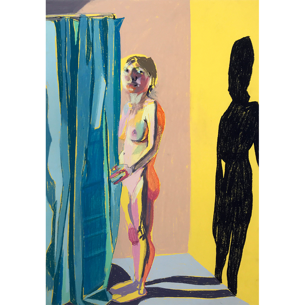 Standing+nude+on+yellow+with+blue+curtain,+Hester+Finch,+Pastel+on+Paper,++41,7+x+29,7cm,+£475,+Partnership+Editions.jpg