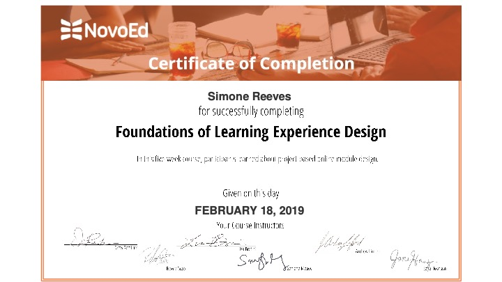 Foundations of Learning Experience Design