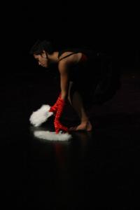 Dancer Nicola Sabatino performs Feather & Tar by choreographer Tammi Gissell at BlakDance 2012. Photo: Anja Ali-Haapala