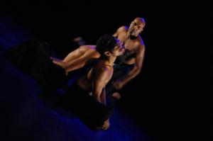 Dancers Albert David, Kenny Johnson and Tyrel Dulvarie perform Giz by choreographer Albert David at BlakDance 2012. Photo: Anja Ali-Haapala