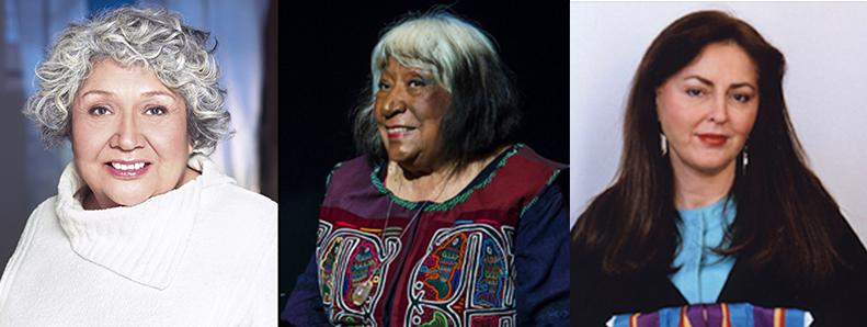 Muriel Miguel, Gloria Miguel of Spiderwoman Theater and Diane Fraher of Amerinda