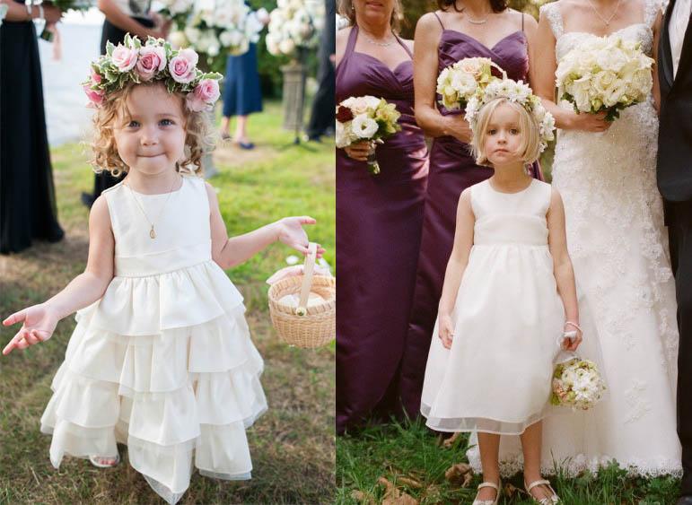 flower girl matrimonio pagetti petali rose