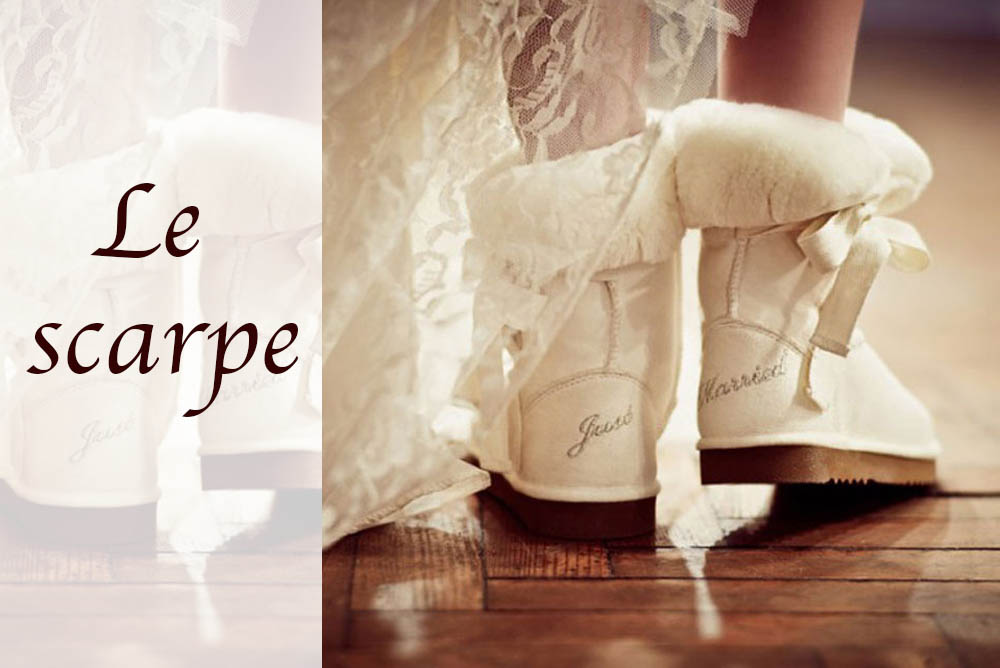 scarpe stivale matrimonio sposa