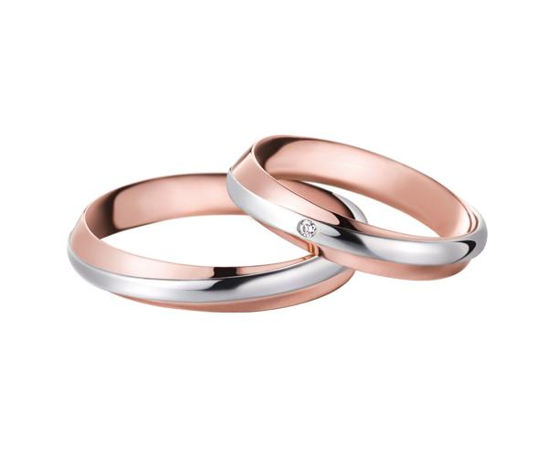fede doppio giro oro rosa