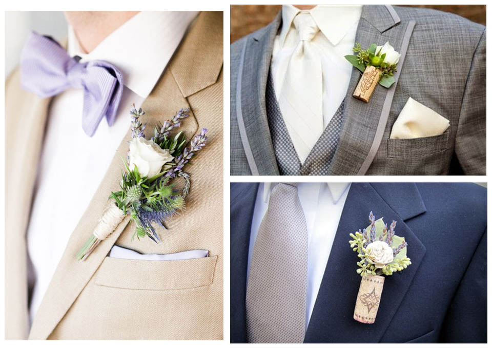 bottoniere sposo fiori sughero matrimonio langhe roero tema vino