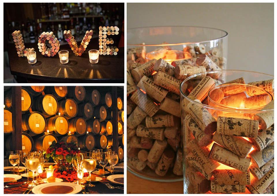candele centrotavola vino tema matrimonio wedding langhe roero