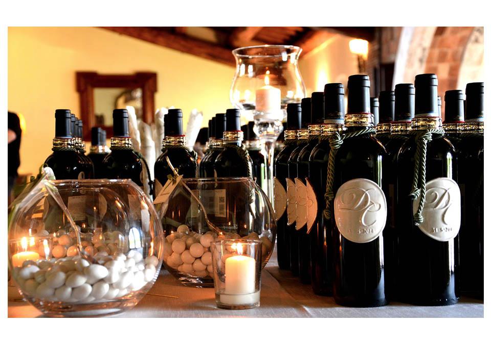 bomboniere cadueau de mariage vino tema wedding langhe roero