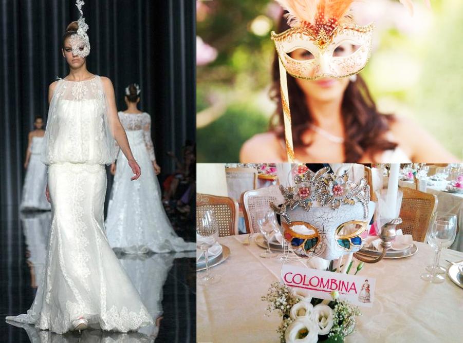 tema matrimonio febbraio maschere