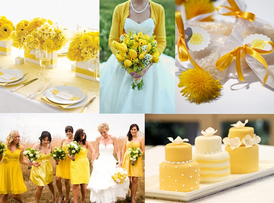giugno matrimonio tema giallo sposa sposo tendenze fiori colore