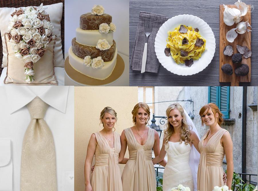 ottobre matrimonio tema marrone beige tema tartufo