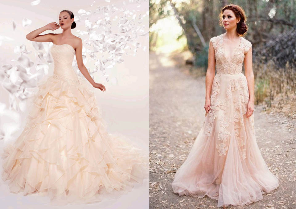 abito sposa wedding matrimonio colore tendenza moda