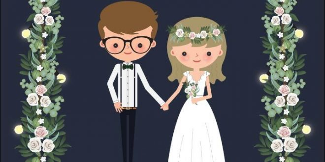 Cartoon-wedding-invitations-tuck-in-neatly-between-these-two-ends-of-the-'wedd-660x330.jpg