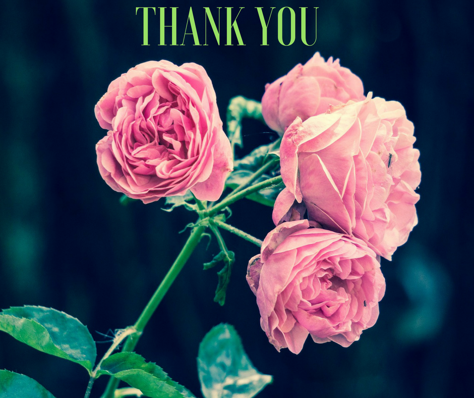 Thank you with Roses