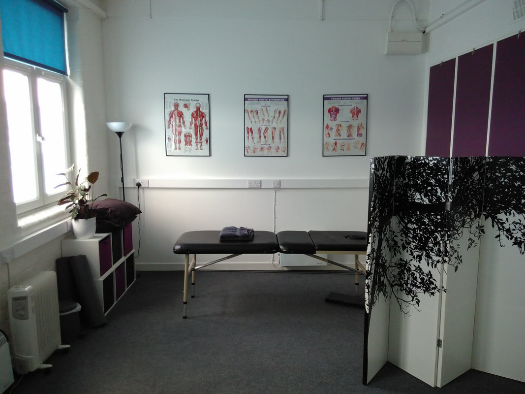 Sheffield clinic with massage table