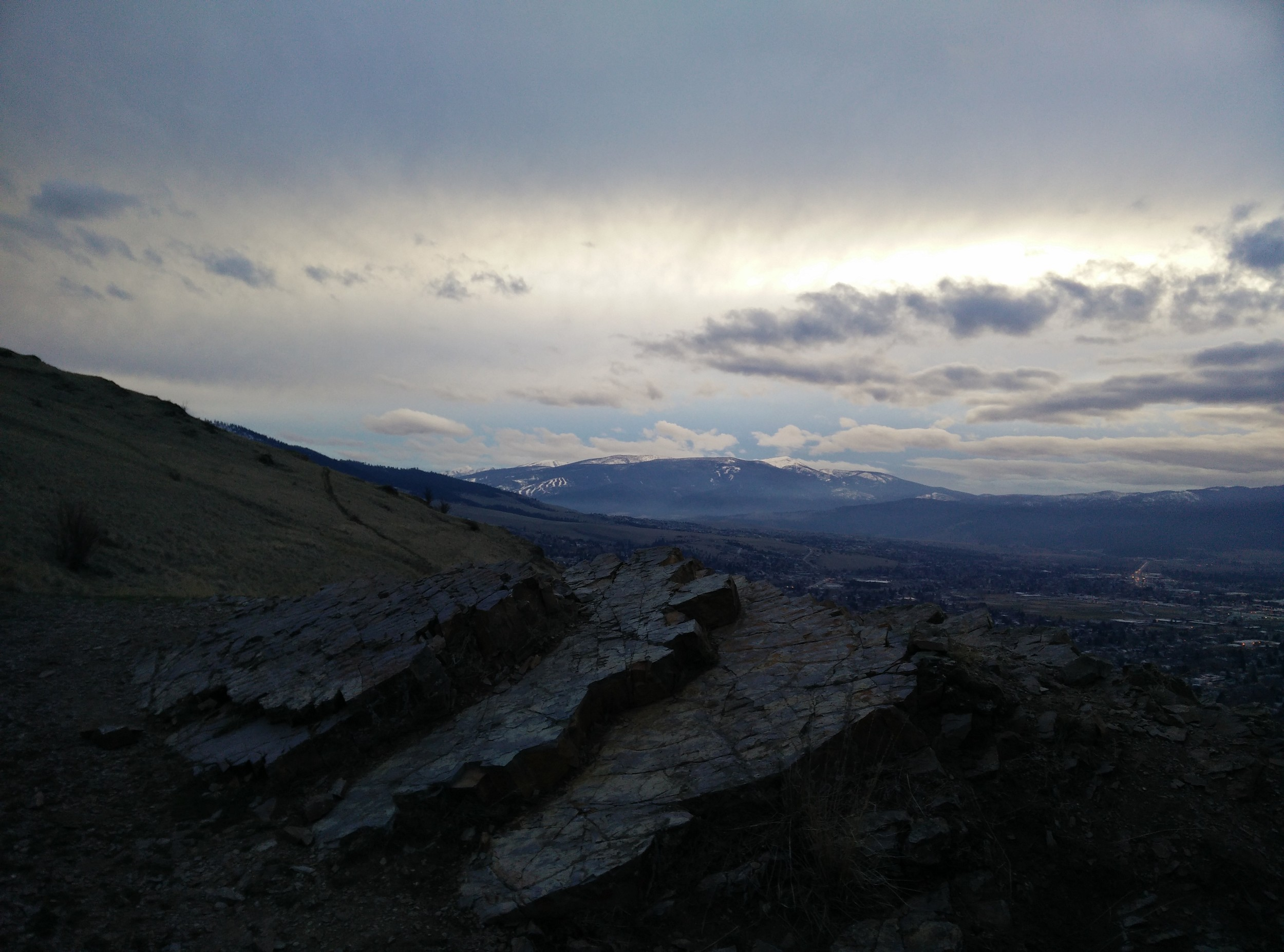 """View from above the """"M"""" (in Missoula) looking south."""