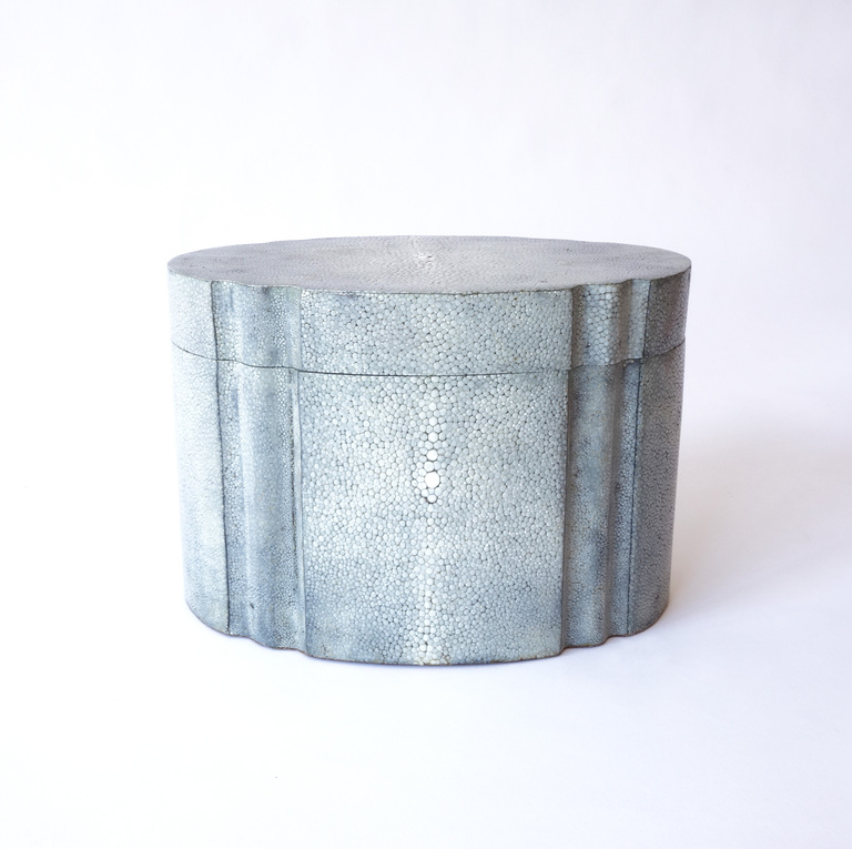 Designer Karl Springer 1980's Art Deco Style Shagreen box $4,800 from 1stdibs