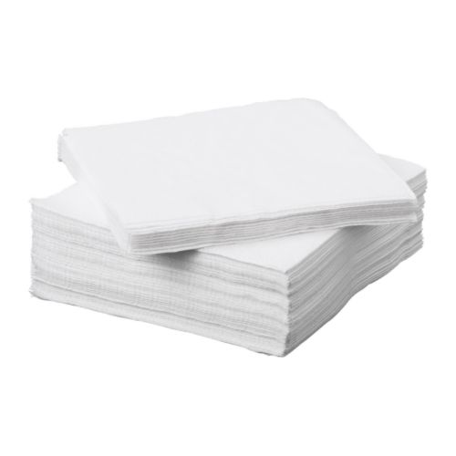 Large White Paper Napkins -FANTASTISK Paper napkins  I also like the solid color napkins for parties and the holidays. These are also available in a smaller cocktail size.