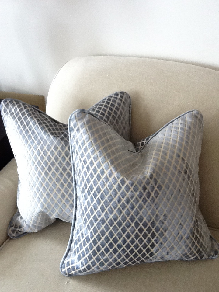 Here is the pair of pillows that I donated.