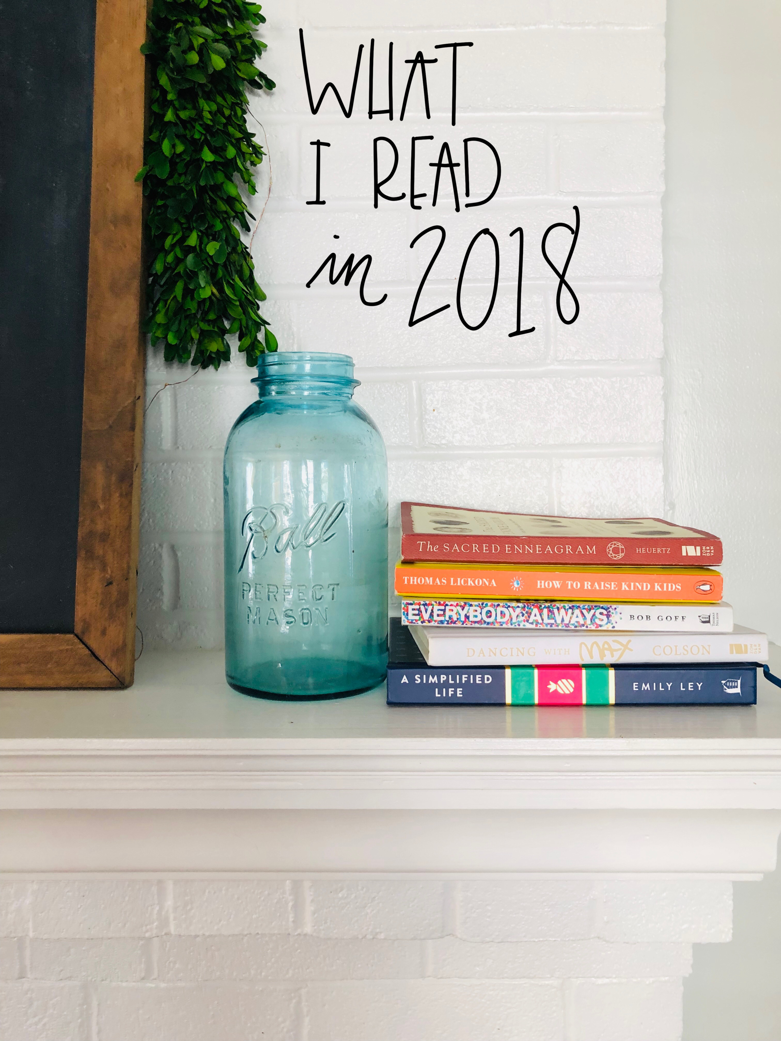 what i read in 2018 / ideas for what to read in 2019 / onedelightfulshop.com