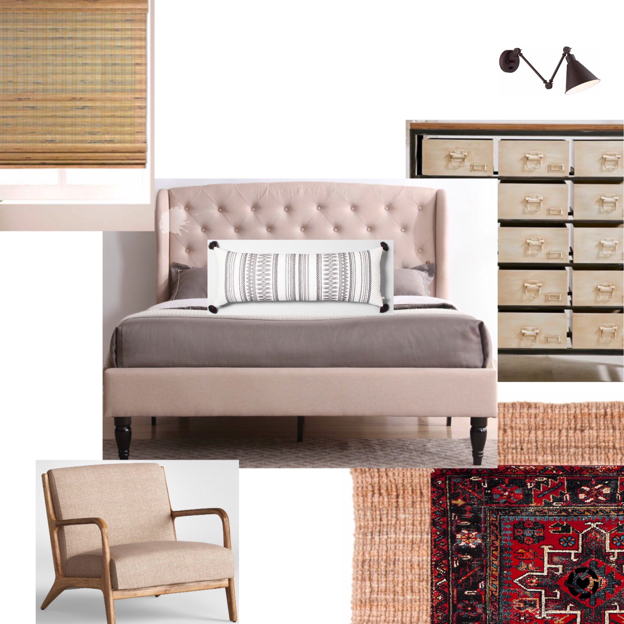Simple Master Bedroom Moodboard / onedelightfulcreative.com