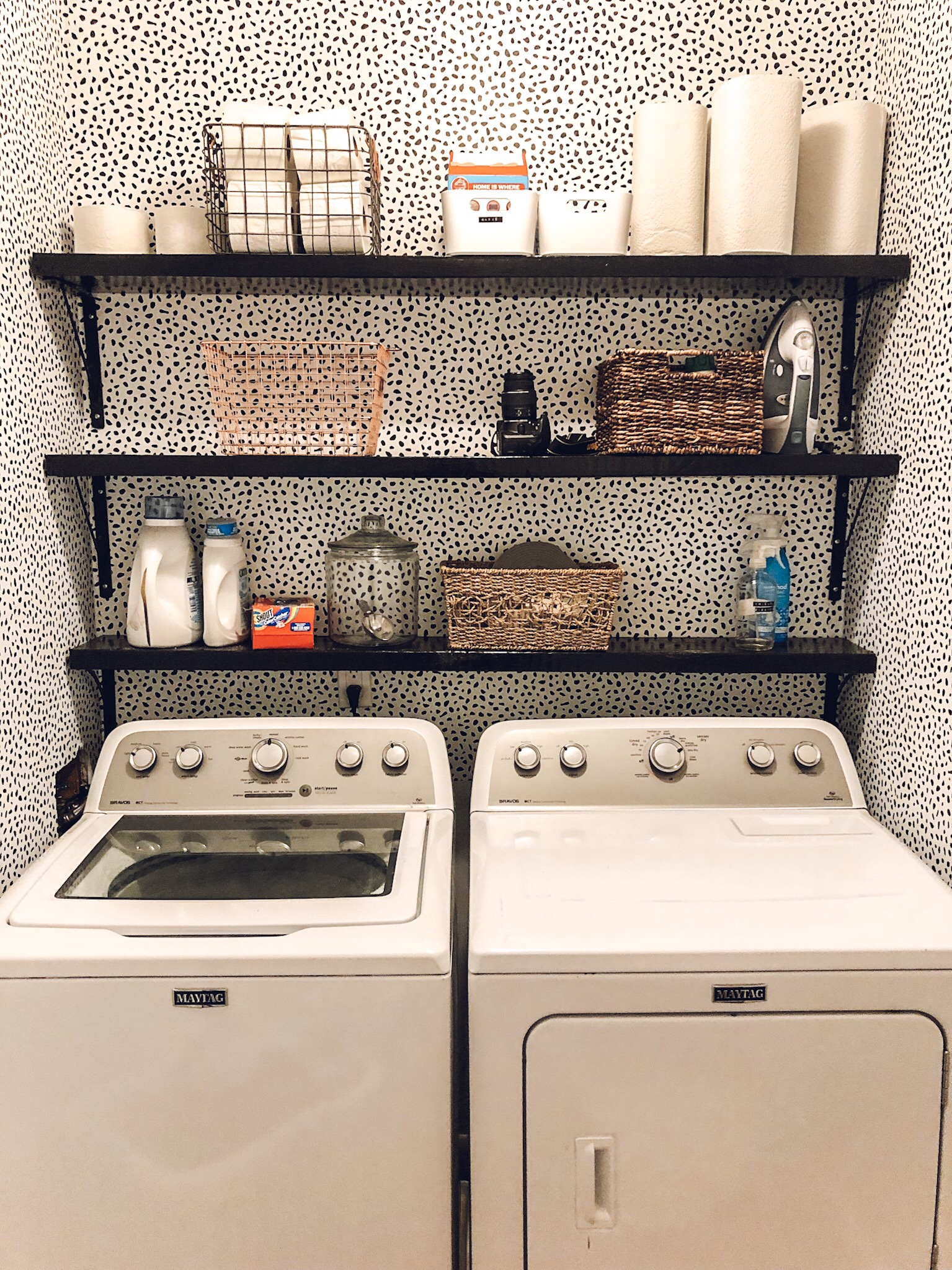 Laundry Room after / one delightful creative