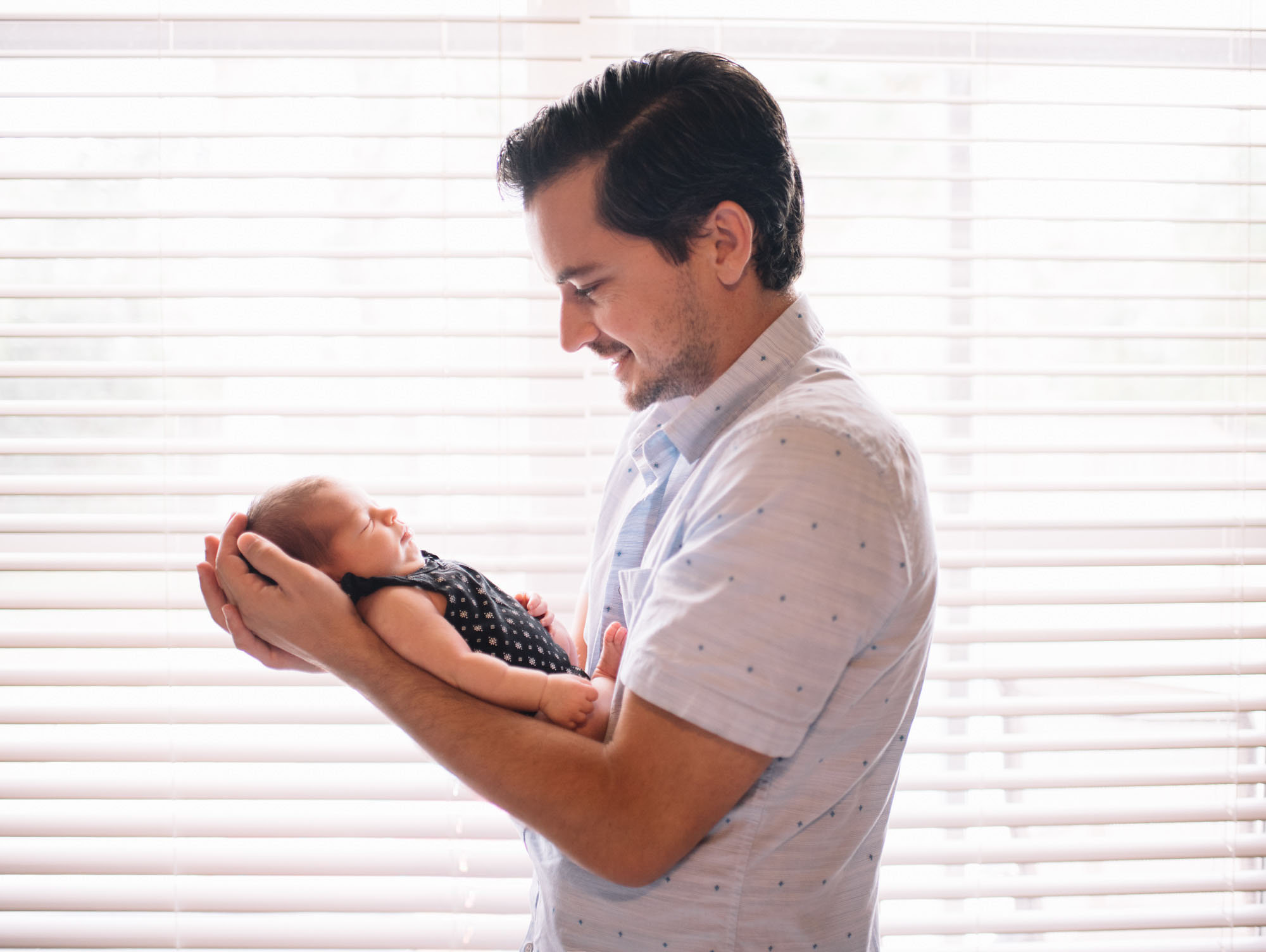 dad and baby newborn photo