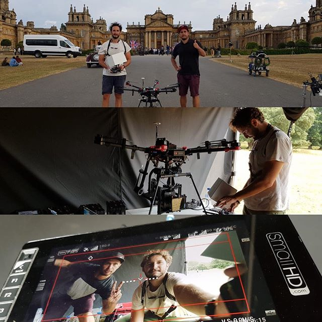#Filming with the #m600 and #Alexa mini at #bleimhampalace . . . . . . . . #dji #djiglobal #djipilot #aerialphotography #droneoftheday #dronestagram #bollywood #housefull4 #ukfilm #behindthescenes