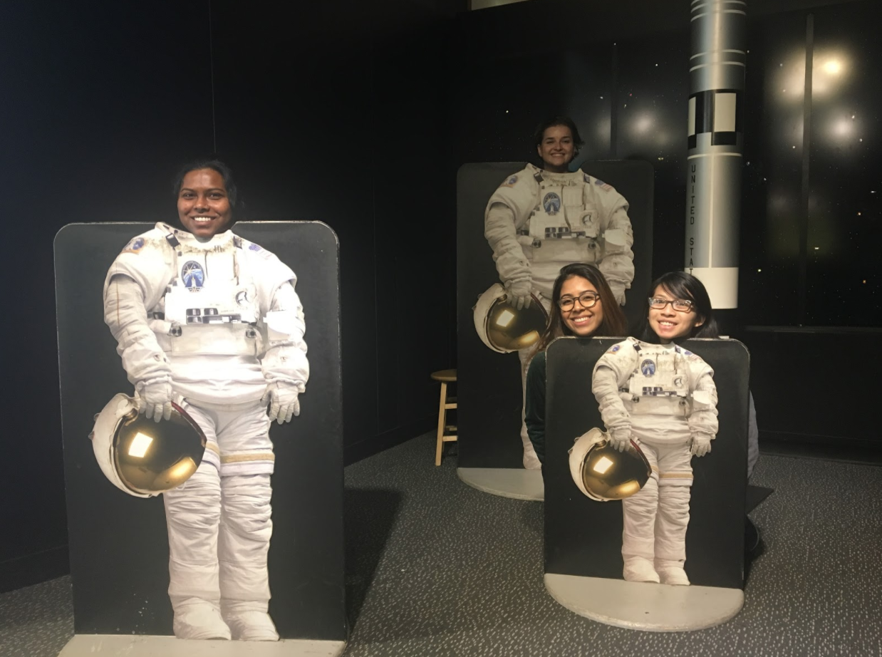 Kumari, Yuliya, Leah, and Samantha- Explainers at the New York Hall of Science