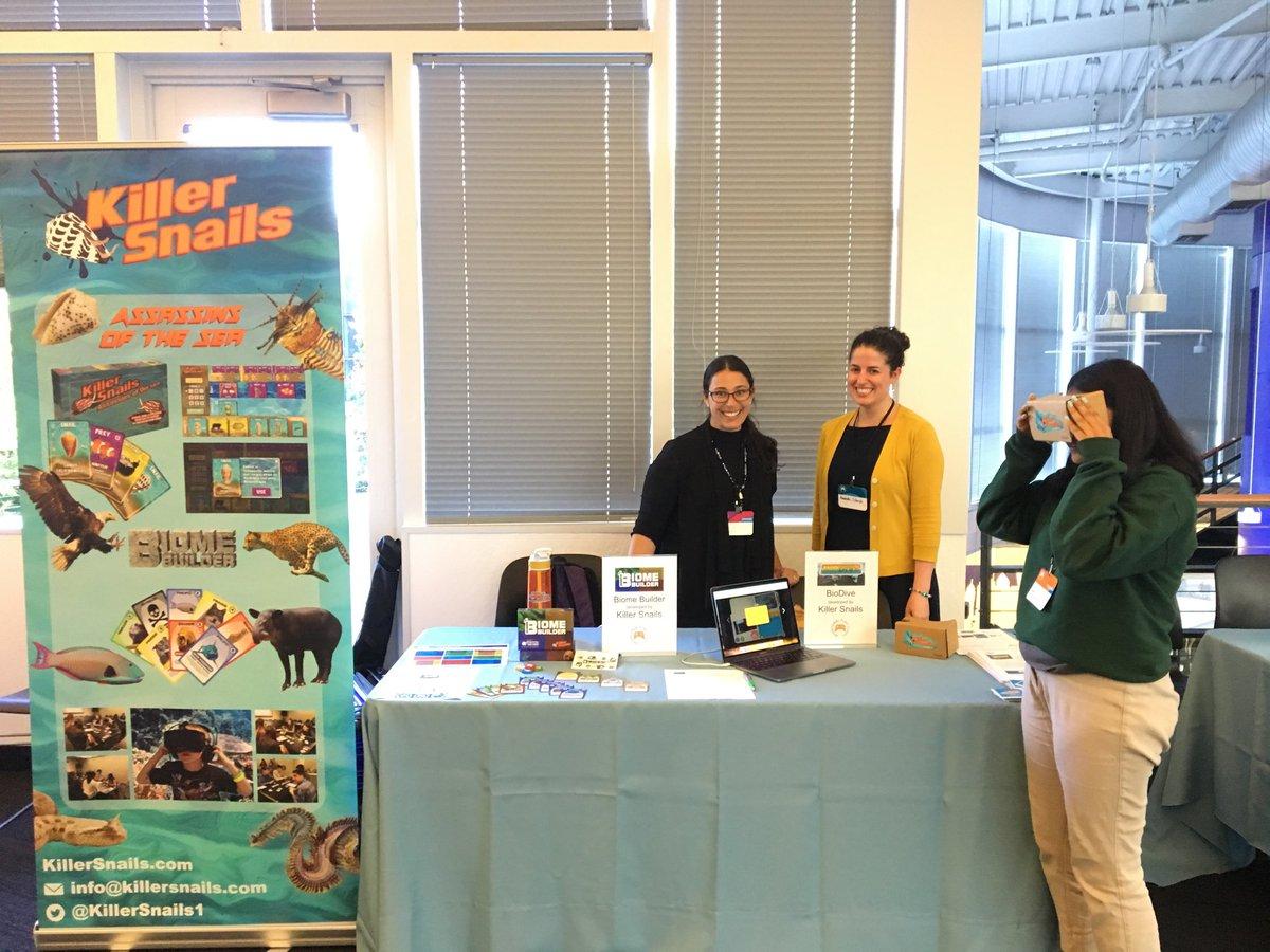 KS Teacher Ambassador Amanda Solarsh & Chief Learning Officer Dr. Lindsay Portnoy demo KS VR, digital, and tabletop learning games.