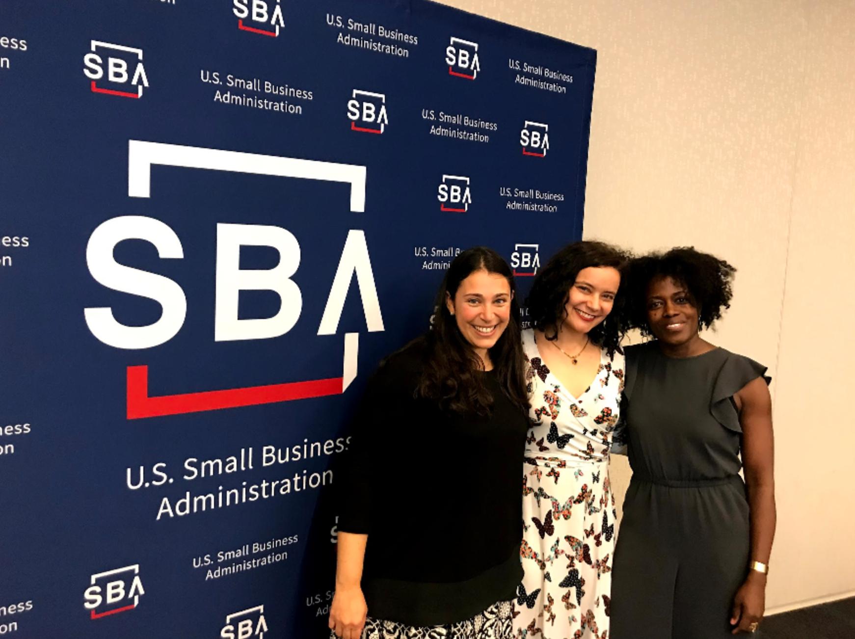 Lindsay, Jessica & Mandë at SBA awards!