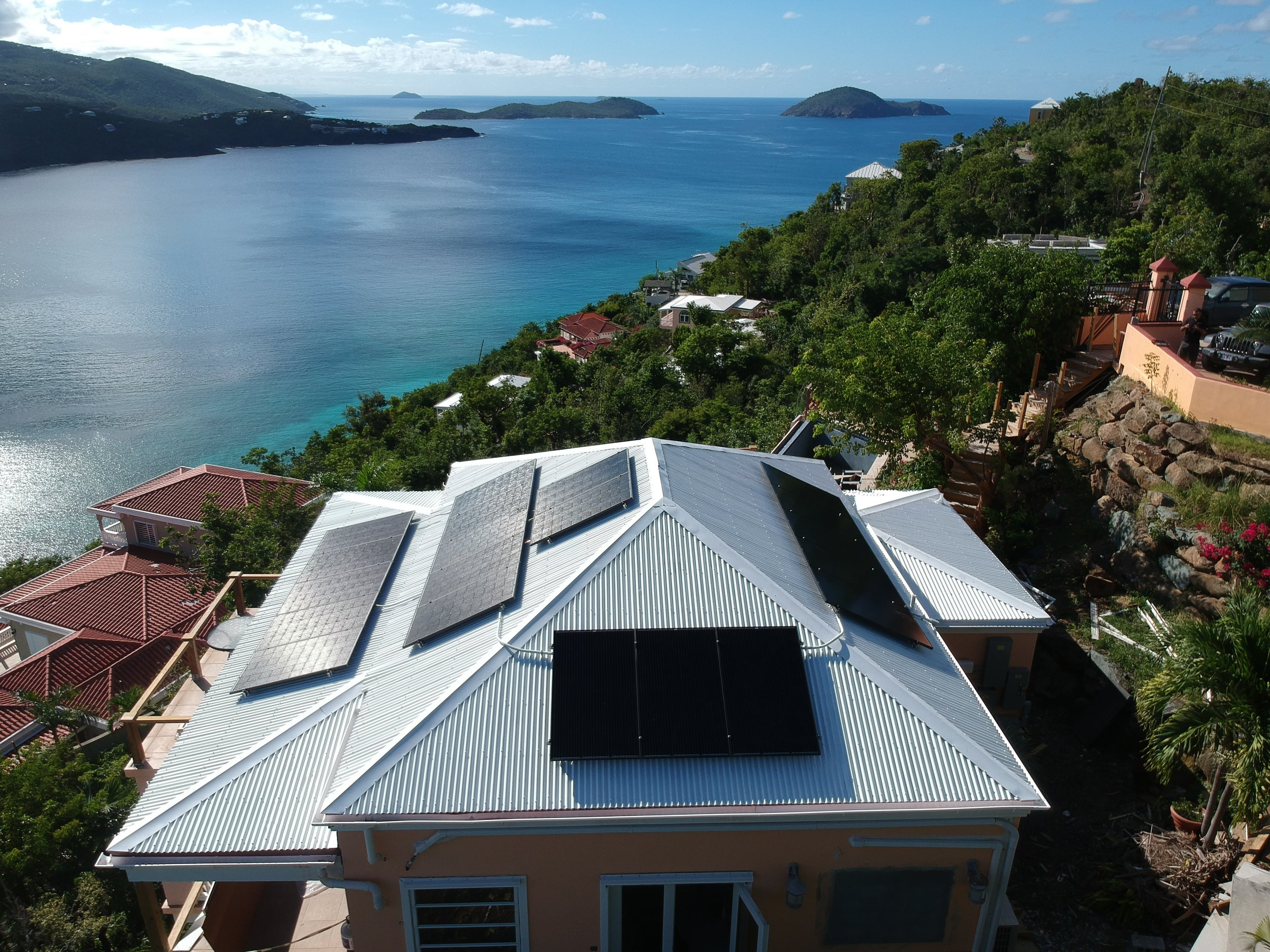6kW Solar Array with 2 Tesla Powerwalls - 100% Self-Powered Villa in Magens Bay St. Thomas