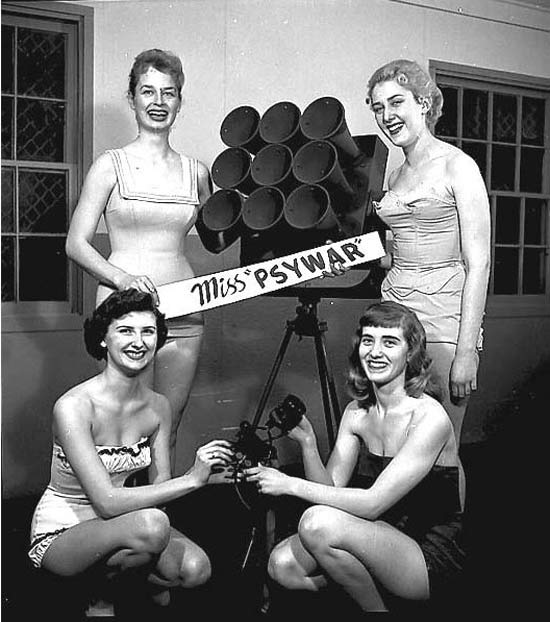 """Contestants for Miss """"Psywar"""" (Psychological Warfare), 1940"""