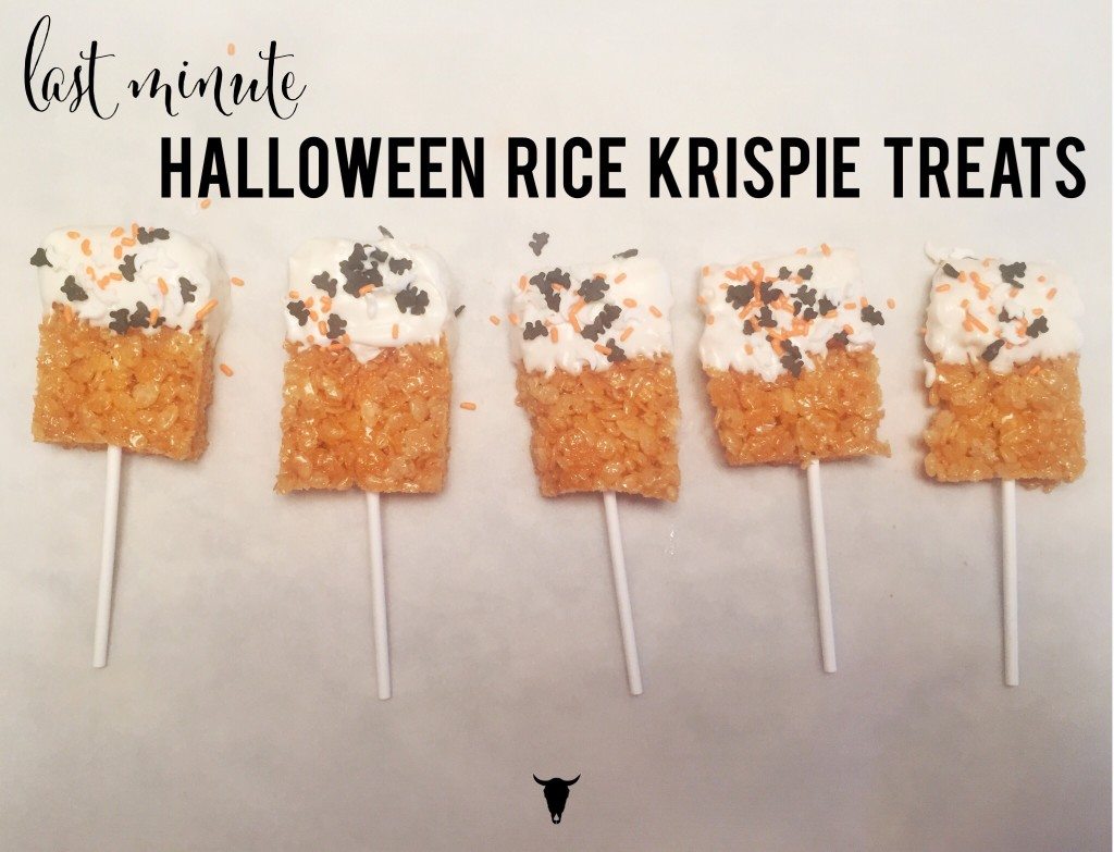 Last Minute Halloween Rice Krispie Treats - Rad Maverix