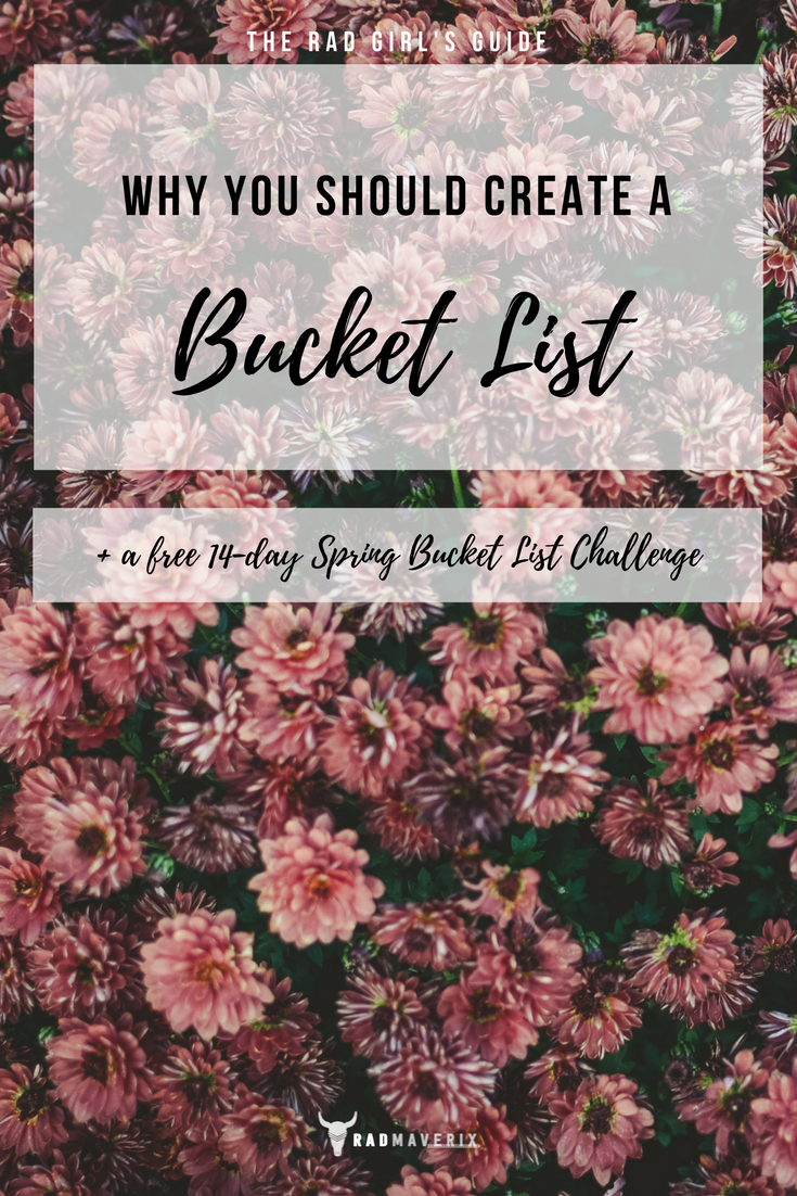 Why You Should Create a Bucket List