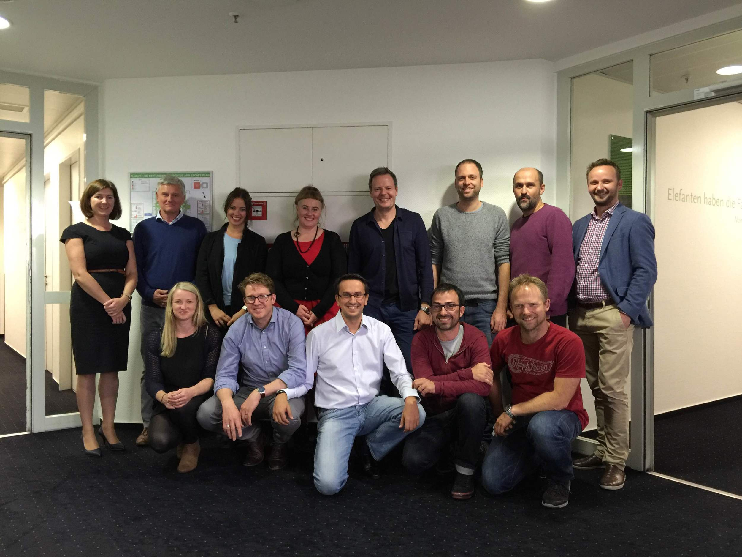 At the first working group meeting in Frankfurt, Sept 2015.