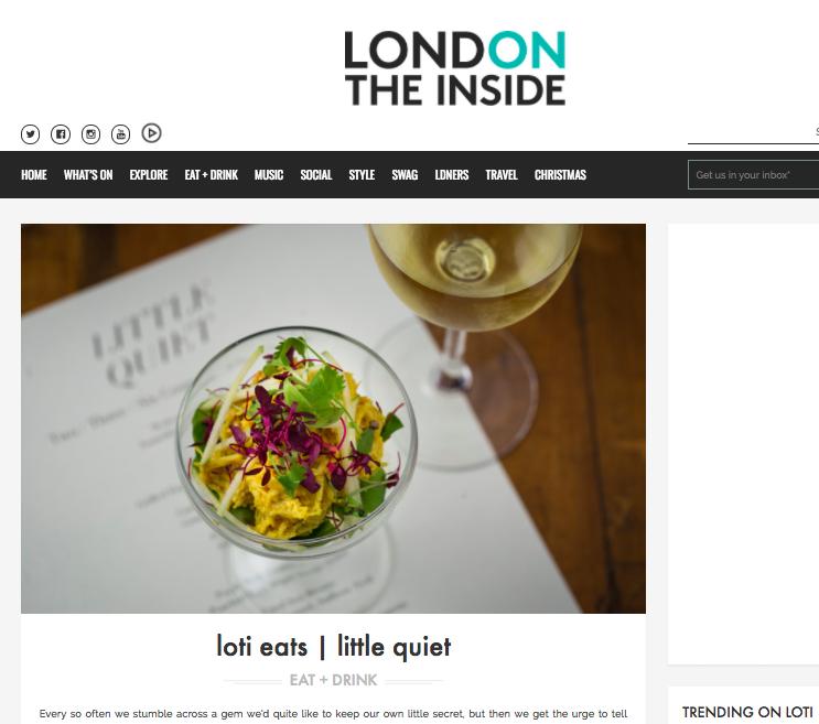 LOTI eats: Little Quiet