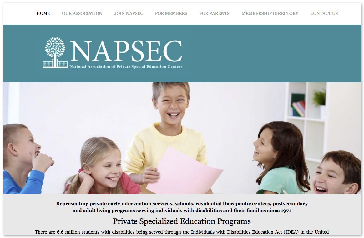 National Association of Private Special Education Centers (NAPSEC)