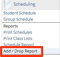 New Add/Drop report
